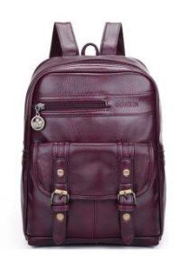 Rising Bazaar Women Girl Leather Backpack Korean Rucksack Teenager Knapsack Stundent School Bagpack (Black)(Export)(Intl) - Intl