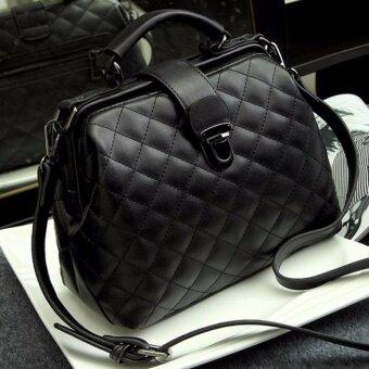 RockLife Women High Quality Leather Handbag กระเป๋าถือกระเป๋าสะพายไหล่ กระเป๋าสะพายพาดลำตัว - R1139 Black
