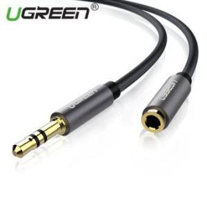 UGREEN 3.5mm Stereo Jack Audio Extension Cable with Aluminum Case(3m) Black