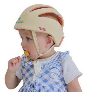 Adjustable Infant Baby Safety Helmet Kids Head Protection Caps Hat for Walking Crawling (Beige) - intl