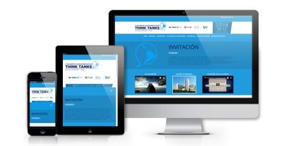 imagem website apresentado em computador, tablet e smartphone - layout responsivo