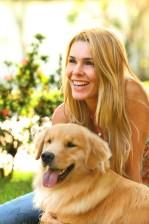 Retrato pessoa e cão