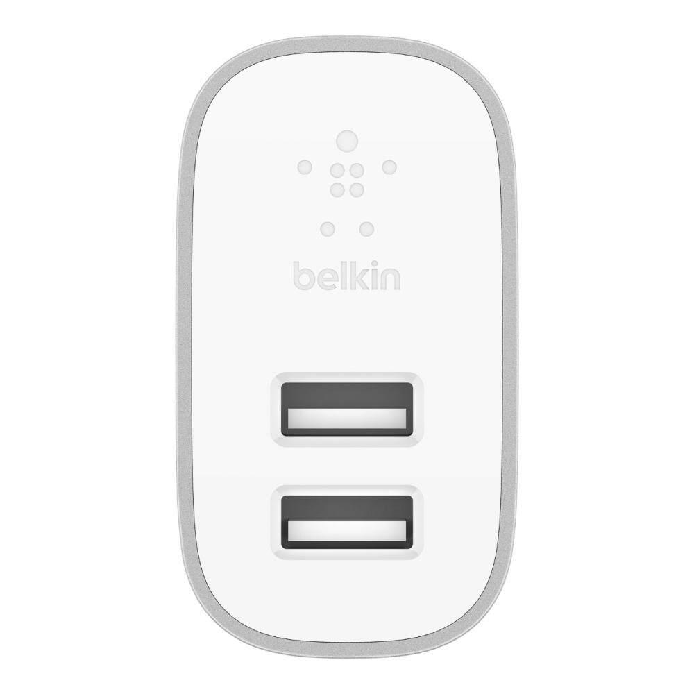 Belkin BOOST CHARGE 2-Port Home Charger 4.8A/24W (F7U049dqSLV) belkin เพิ่ม 2 ผลิตภัณฑ์ในกลุ่ม boost↑charge™ - Belkin เพิ่ม 2 ผลิตภัณฑ์ในกลุ่ม BOOST↑CHARGE™