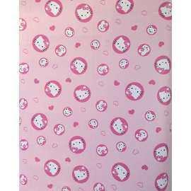 Hachi วอลเปเปอร์ สติ๊กเกอร์ติดผนัง ลายการ์ตูน ลายวงกลมคิตตี้ Hello Kitty
