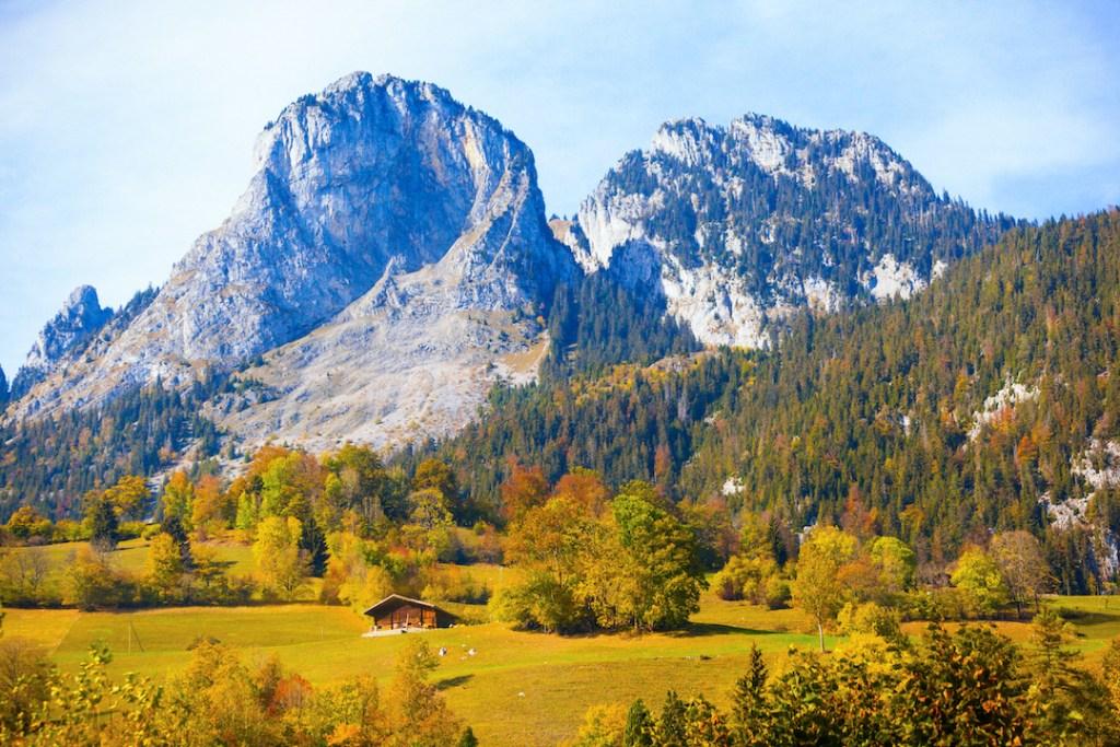 ใบไม้เปลี่ยนสีในสวิตเซอร์แลนด์