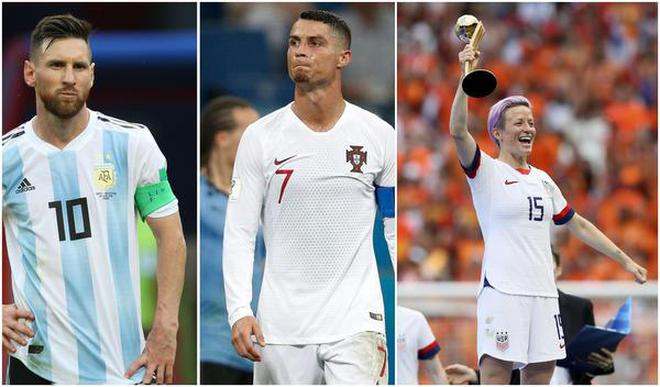 ronaldo messi rapinoe nominated