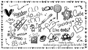 random doodle brushes doodles sketches photoshop deviantart drawings things pencil designs fun nat fanpop sara notebook draw simple resources 2009