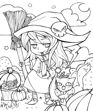 Give-Me-Color 2014 Halloween Colouring Contest by Suiish