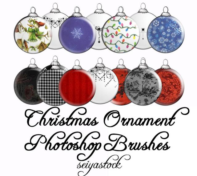 Christmas Ornament PS Brushes