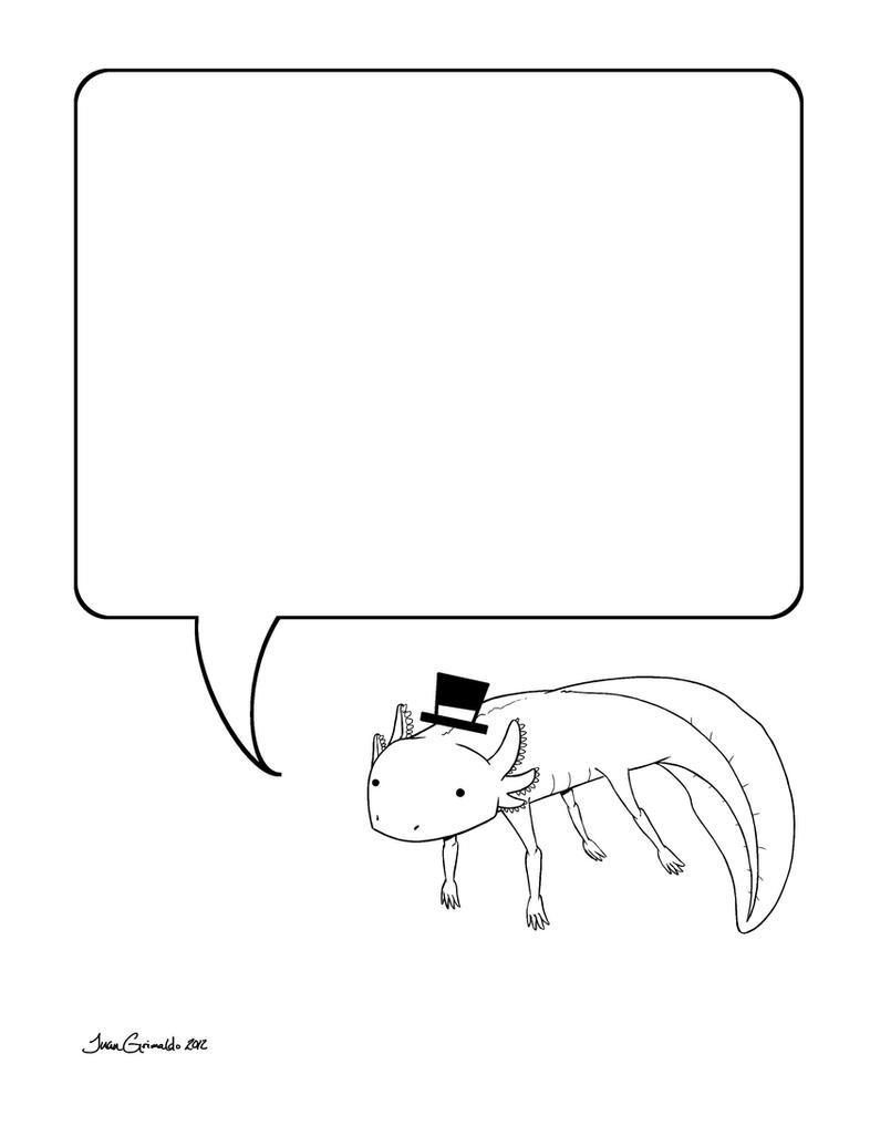 Axolotl Note Coloring Page by Grimaldo-J on DeviantArt