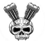 V-Twin skull by cjett13 on DeviantArt