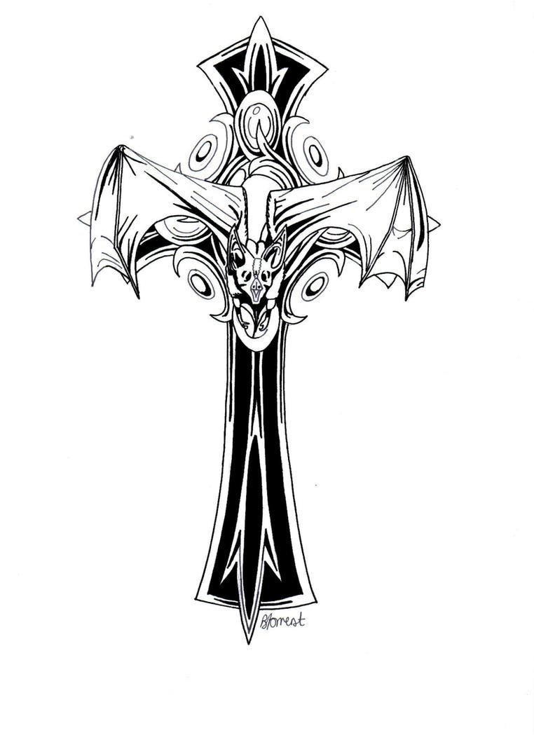Gothic Crosses Tattoos