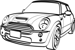 Mini Cooper Drawing Sketch Coloring Page