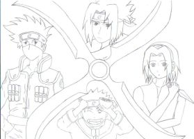 Naruto Team 7 Coloring Pages Coloring Pages