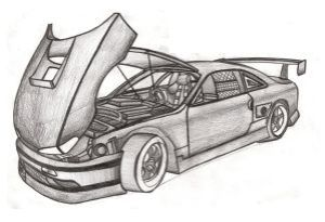 cars pencil drawing draw nissan colored battle awesome drawings jdm dark cry 200sx s14a tr books deviantart vol1 skect favorite