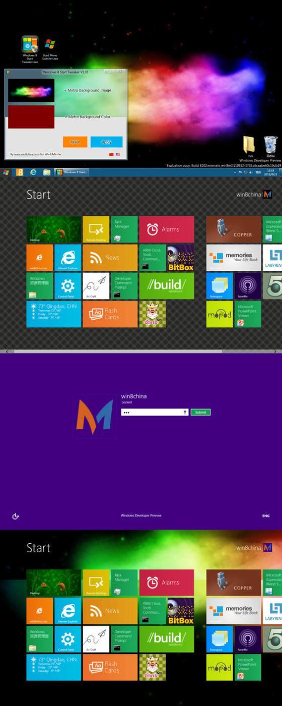 Windows 8 Start Tweaker