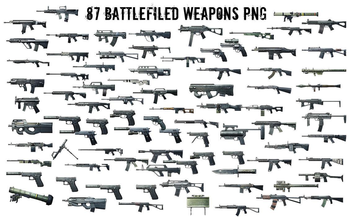 Battlefield 3 Weapons Render [PNG] by JonasForTheArt on