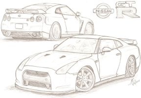 Nissan Gt R R35 Coloring Pages