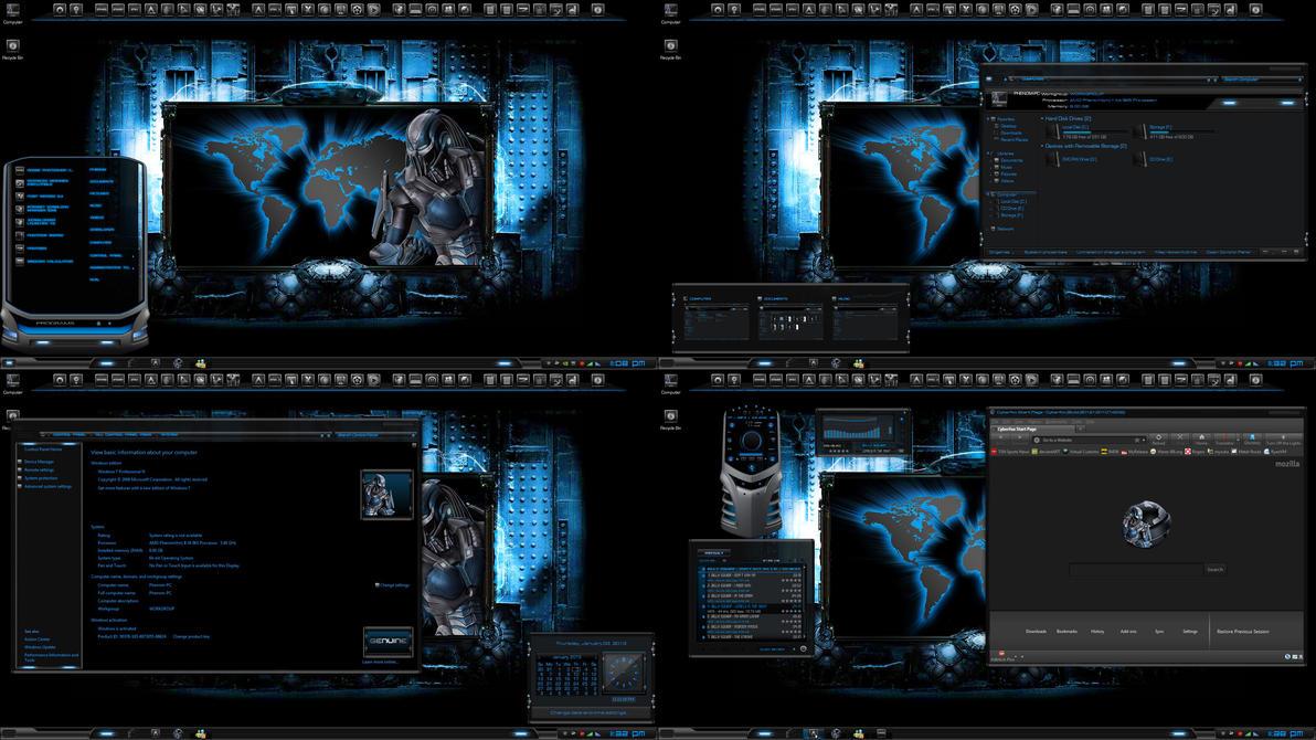 Windows Wallpaper Fall Requiem The Cyberfox Theme By R0ck N R0lla1 On Deviantart
