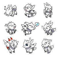 Chibi Shiny Reshiram by MadArtistParadise on DeviantArt