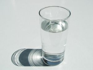...glass of water