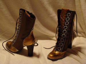 Steampunk boots by DANA