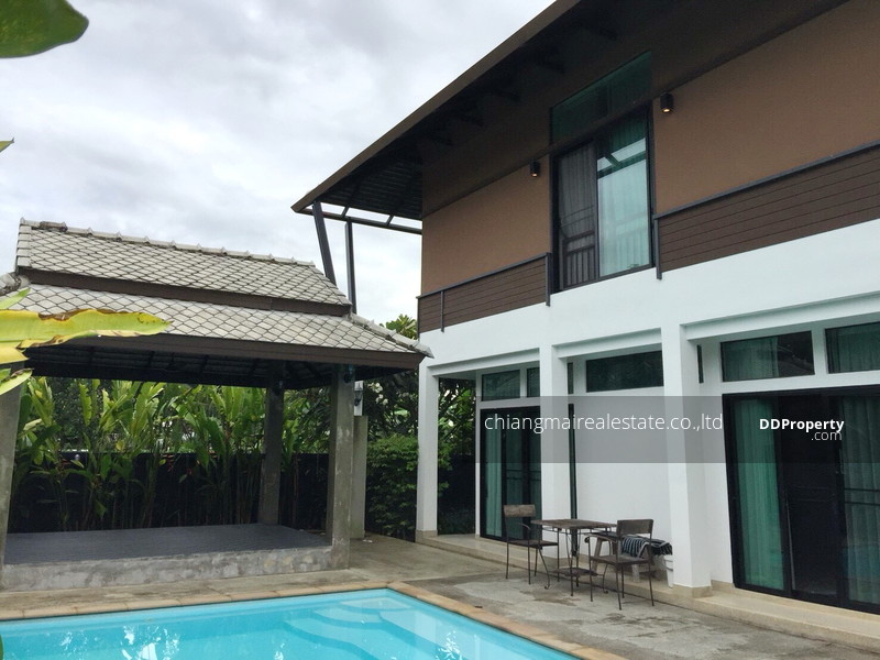 S1020 Sell 2 Storey House With Private Pool Lanna Montra Project Fully Furnished Nong Kwai Hang Dong Sale With Tenants
