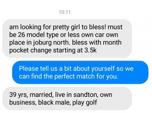Looking for a blesser in sandton