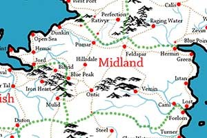 Map of Midland