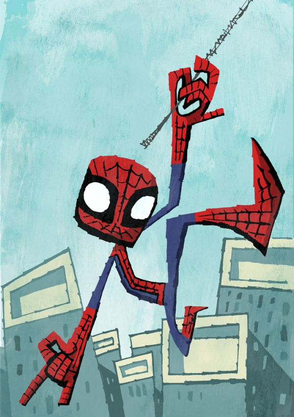 Abstracted Superheroes by Jonathan Edwards Spider Man