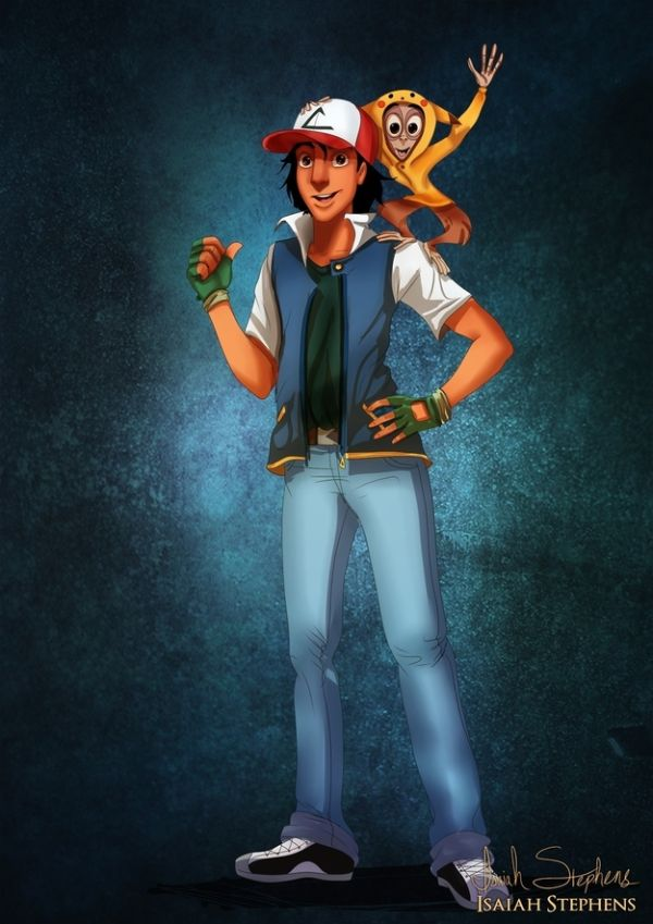 Disney Heroes Dressed Up In Awesome Halloween Costumes by Isaiah Stephens Aladdin and Abu