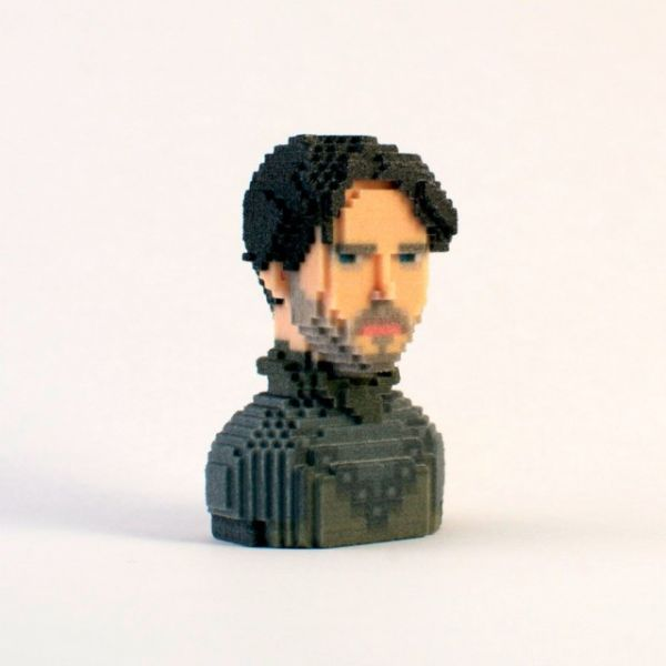 Game of Thrones in Pixels by Leblox Rob Stark