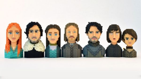 Game of Thrones in Pixels by Leblox Stark Family