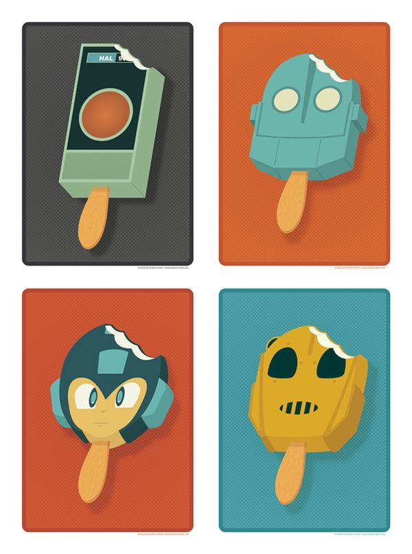 Pop Culture Popsicles illustration by Andrew Heath 04