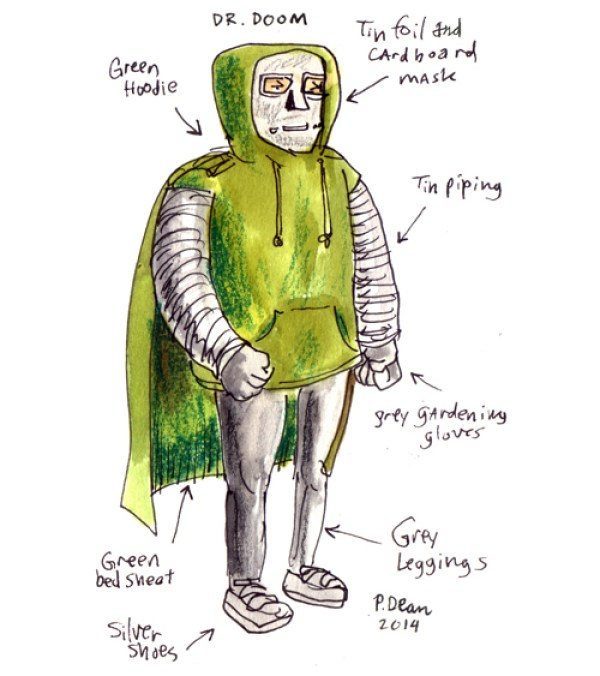 half assed cosplay ideas by patrick dean dr. doom