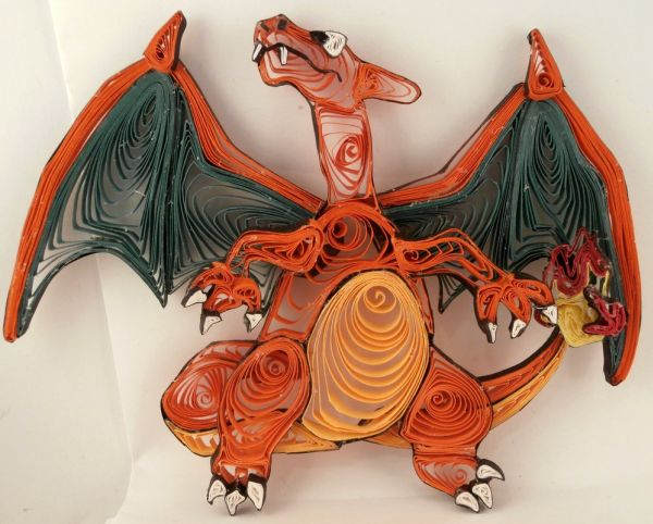 Paper Quilling Starter Generation One by Aimie Holdorf Charizard