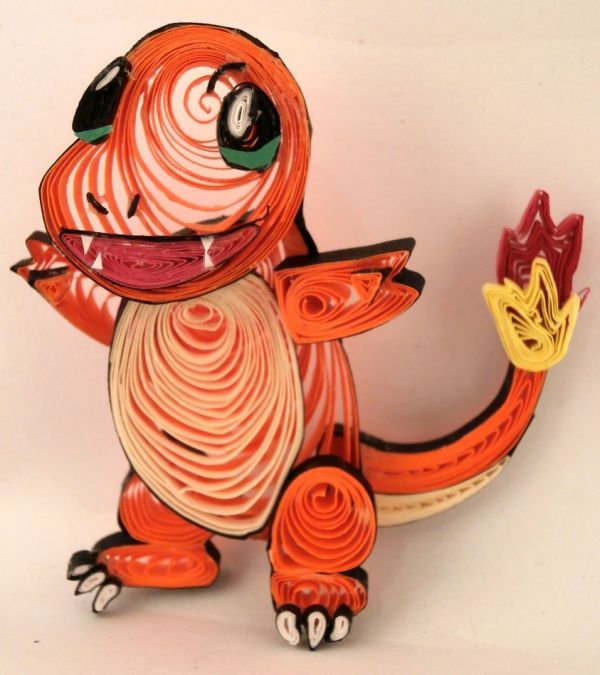 Paper Quilling Starter Generation One by Aimie Holdorf Charmander