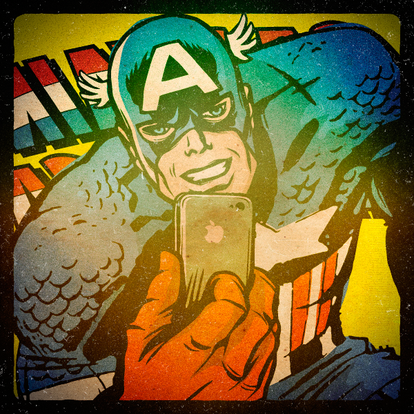 Superhero Selfies Captain America by Butcher Billy