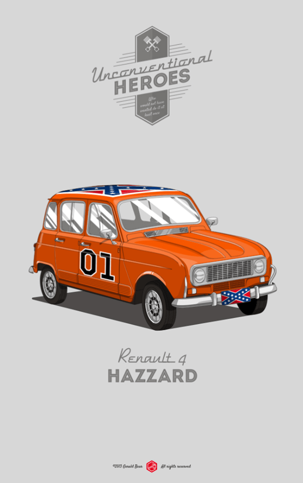 Unconventional Heroes by Gerald Bear Renault 4