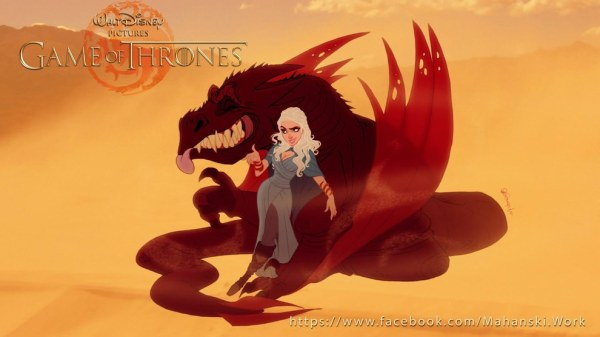 Disney Game of Thrones Daenerys and Dragons
