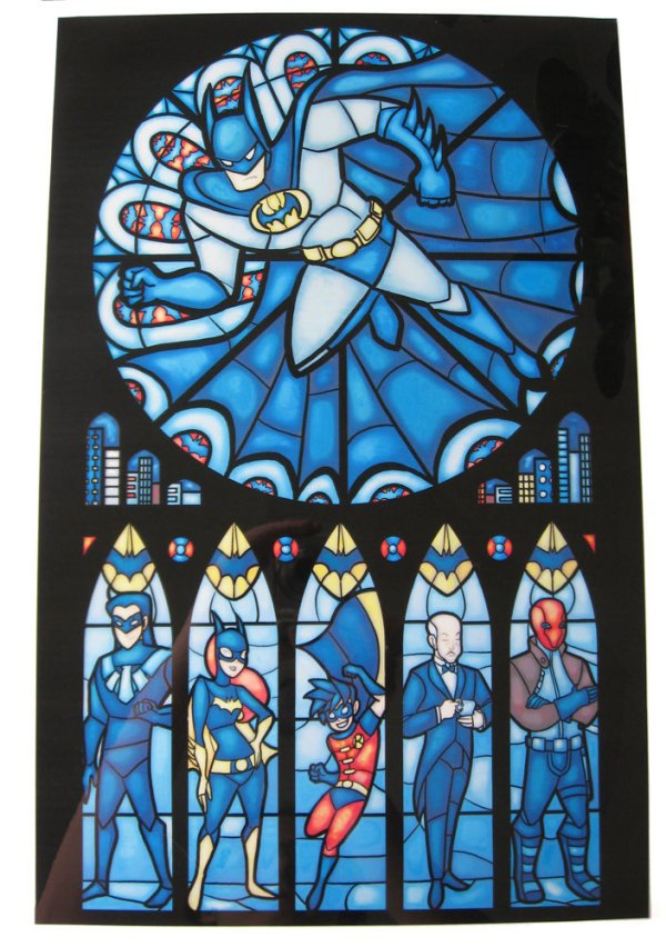 Iconic Stained Glass Batman