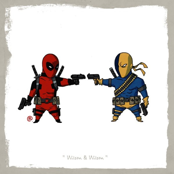 Little Superhero Friends deadpool Darren Rawlings