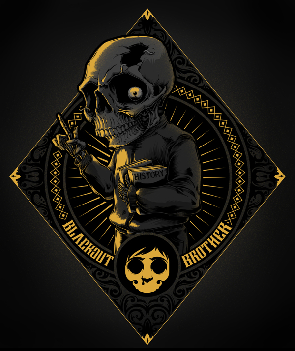 blackout brothers mini skull