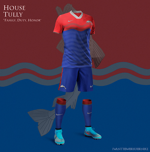 Game of Thrones World Cup Nike Concepts House Tully