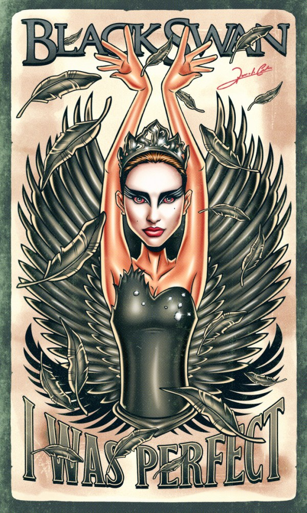 Iconic Series and Movie Heroes black swan