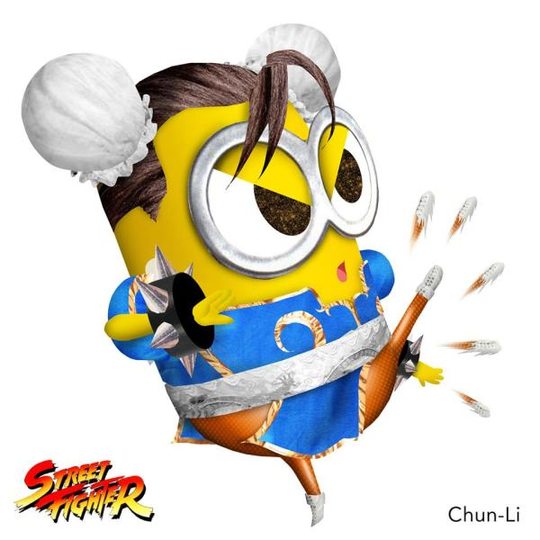 Minion Street Fighter Chun Li