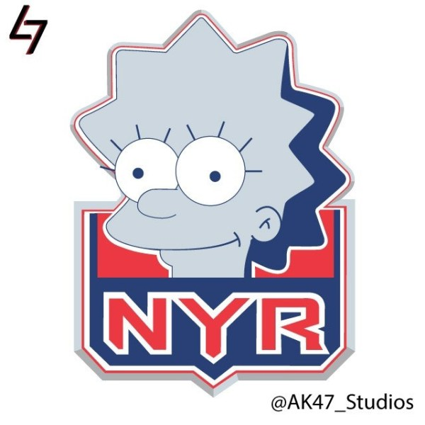 Simpsonized NHL Logos Lisa Simpson