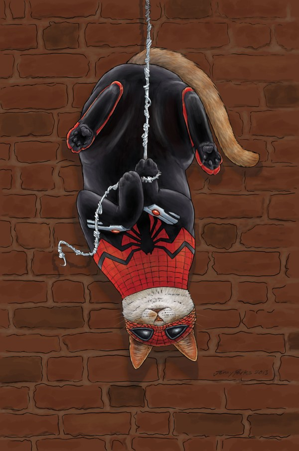 Spiderman superhero cats jenny parks