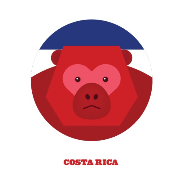 World Cup Postcards Costa Rica