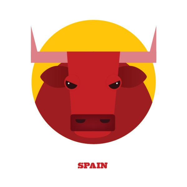 World Cup Postcards Spain